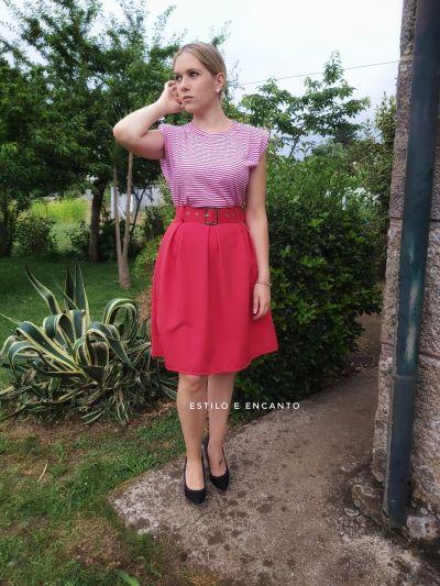 Falda Roja Midi