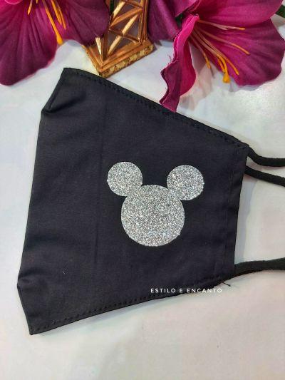 Mascarilla Mickey Purpurina