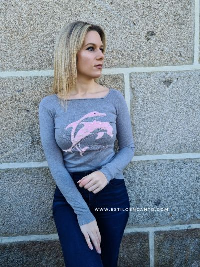 Jersey Delfin Gris