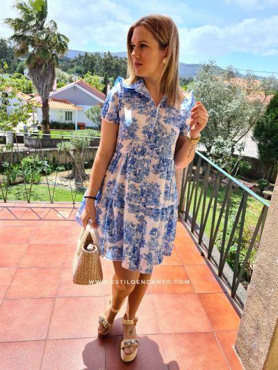 Vestido Safari Azulón