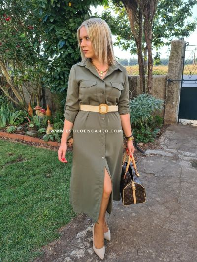 Vestido Safari con cinto