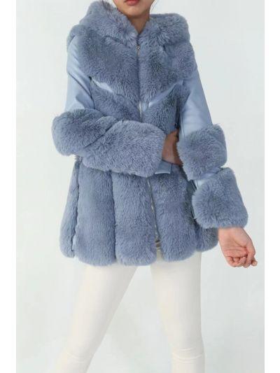 Abrigo Pelo Azul